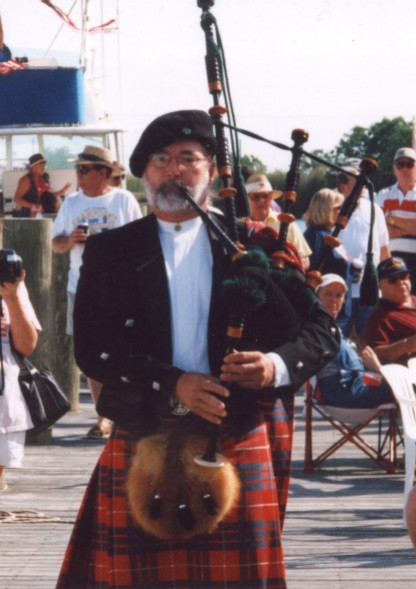 Bagpipes at Memorioal Day Celebration