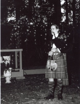 Bagpipes at a wedding